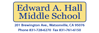 Edward A. Hall Middle School Home